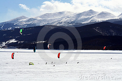 Dillon Snowkite Open Editorial Stock Image