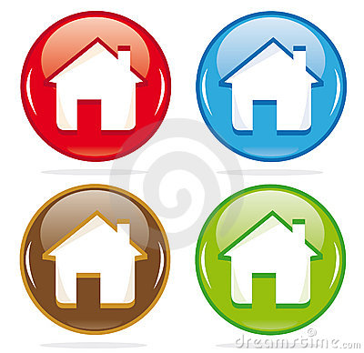 Dimensional house icons