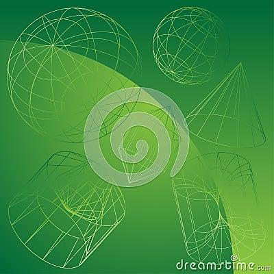 Dimensiones de una variable del acoplamiento de alambre con el fondo verde