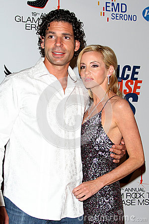 Dimitri Charalambopoulos, Camille Grammer arrives at the 19th Annual Race to Erase MS gala Editorial Image