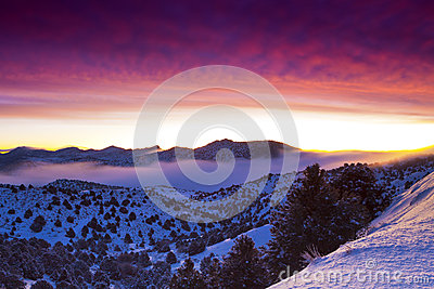 Dimmig soluppgång