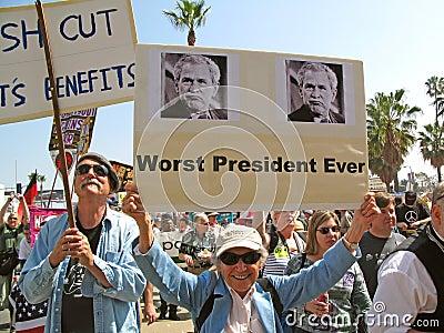 Dimostranti pacifisti Fotografia Editoriale