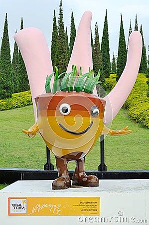 Din Chum mascot Editorial Stock Image