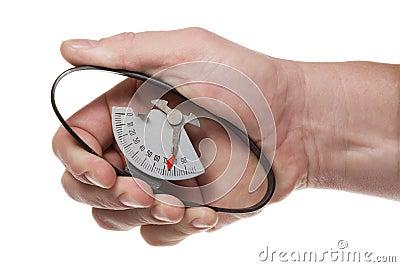 Dinamómetro de la mano