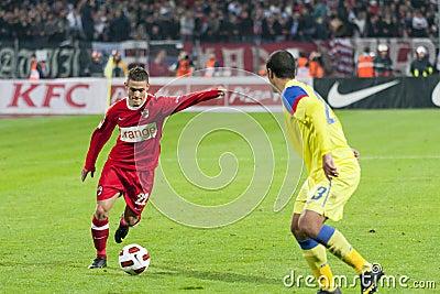 Dinamo Bucharest - Steaua Bucharest Editorial Stock Photo