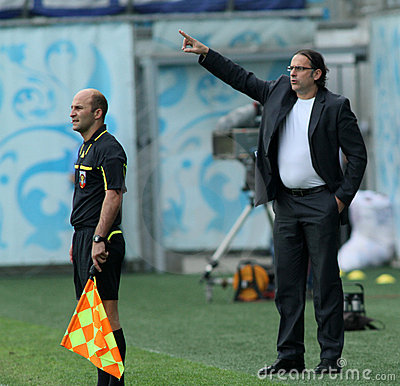Dinamo s head coach Miodrag Bozovic Editorial Photo