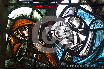Dinan, Stained Glass Stock Images - Image: 27033324