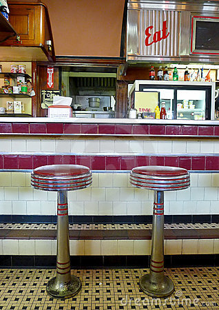 Diner Interior Editorial Stock Photo