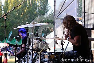 Dinero band performs at Complejo Deportivo Cantarranas Editorial Stock Image