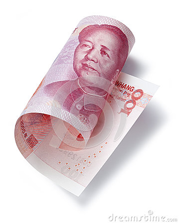 Dinero chino ciento Yuan