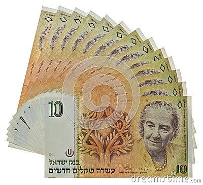 Dinero del israelí de la vendimia