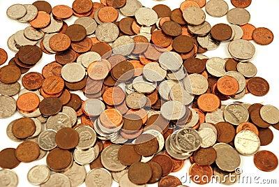 Dinero en circulación - dinero canadiense Foto de archivo editorial