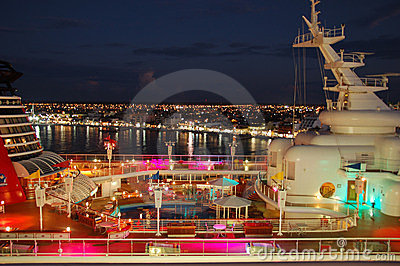 Diney Magic cruise ship Editorial Photography