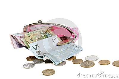 Dinheiro com bolsa