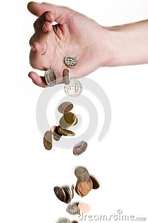 Dinheiro de queda