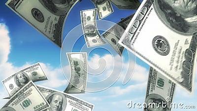 Dinheiro do céu - USD (laço) ilustração do vetor