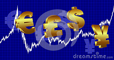Dinheiro do gráfico da moeda