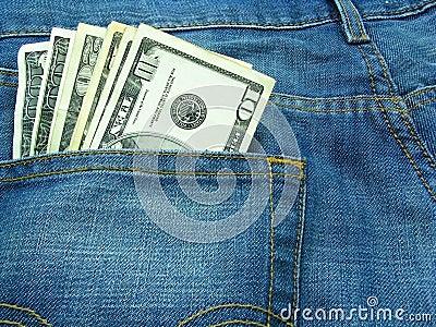 Dinheiro e calças de brim 4