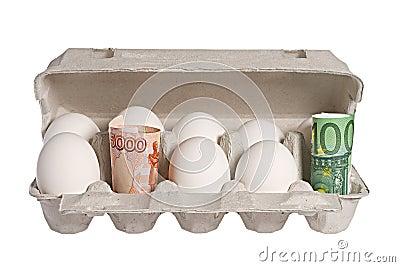 Dinheiro e ovos
