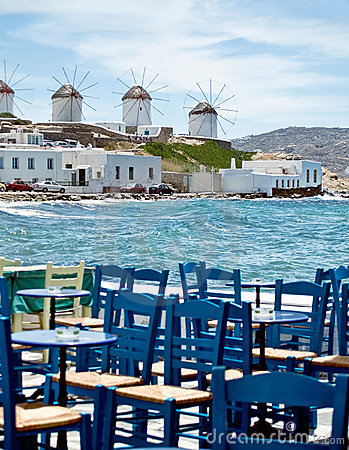 Free Dining In Mykonos Stock Photos - 11267683