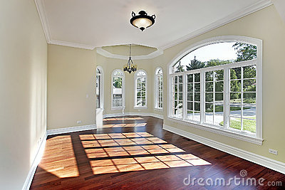 Dining Room With Cherry Wood Flooring Royalty Free Stock Image ...