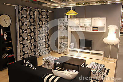 Dining room furniture Editorial Stock Photo