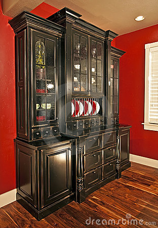Dining Room Hutch Buffet Stock Photos   Image: 9931783