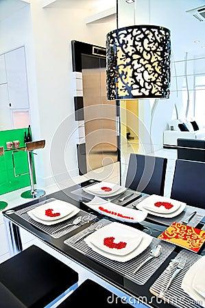 Free Dining Room In A Condominium Stock Photos - 10961863