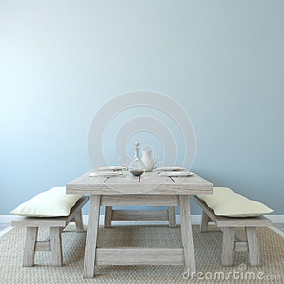 Free Dining-room Interior. Royalty Free Stock Image - 27039446