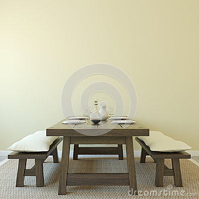 Free Dining-room Interior. Royalty Free Stock Photography - 27809177