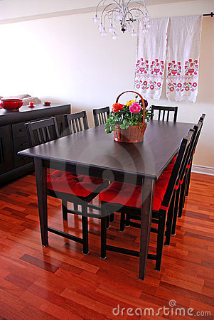 Free Dining Room Interior Royalty Free Stock Photo - 750795