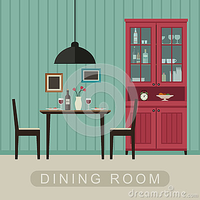 Dining Room Interior Stock Vector Image 66668865