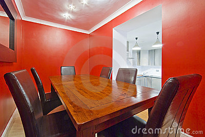 Dining room in red