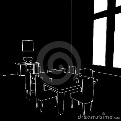 Dining Room Vector 01