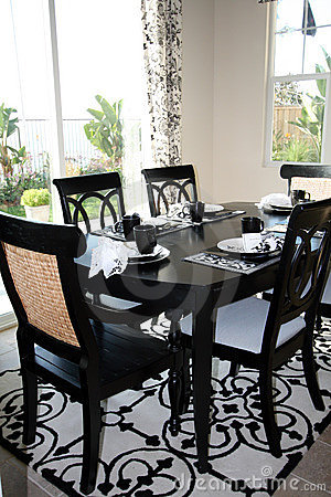 Dining set in B&W - vertical