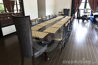 dining setup in a home or a restaurant