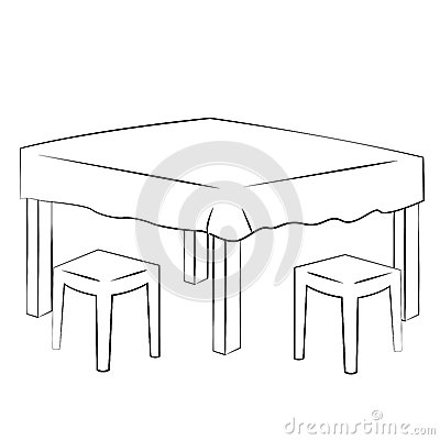 Dining Table Stock Vector  Image: 48520120