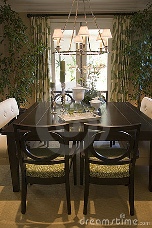 Stock Images: Dining table with luxury decor. Image: 4162954