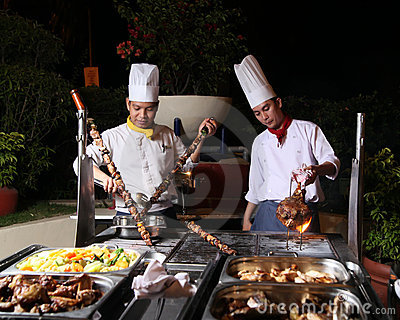 Dinner barbecue