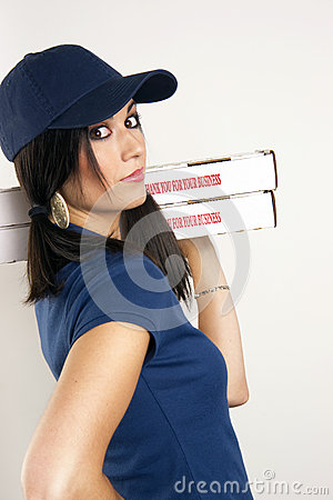 Pizza Dinner Delivered by Beautiful Female Driver