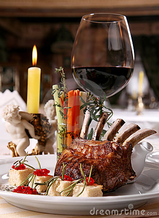 Free Dinner In Restaurant Stock Photo - 7039170