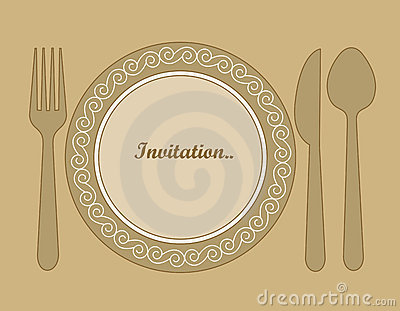 Dinner Invitation Royalty Free Stock Photo Image 16176045