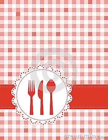 Dinner invitation menu