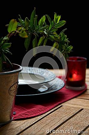 A dinner outside