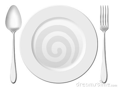 Dinner place setting.