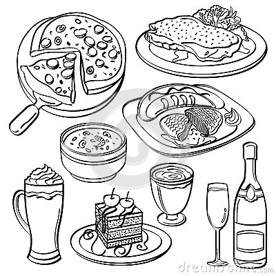 Free Dinner Set Collection Stock Photography - 51052042