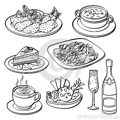 Free Dinner Set Collection Stock Images - 51052044