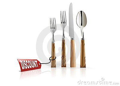 Dinner set on discount