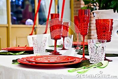 Dinner table setup - Italian Style