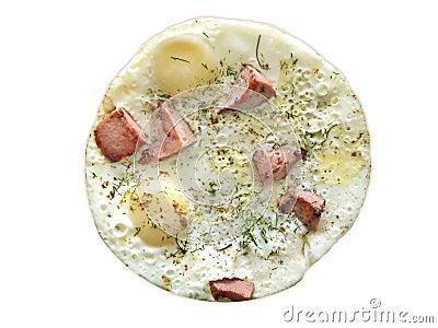 Dinner time, omelet